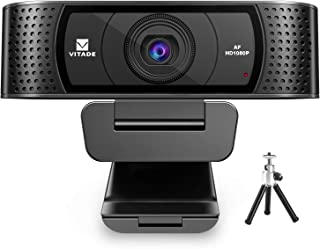 Webcam 1080P with Microphone & Cover, Vitade 928A USB HD Desktop Web Camera Video Cam for Streaming Gaming Conferencing Ma...