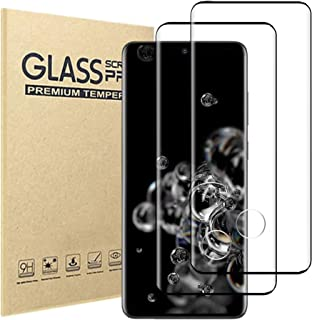 [2 Pack]Samsung Galaxy S20 Ultra Screen Protector,9H Hardness Anti-scratch Tempered Glass Screen Protective Film for Samsu...