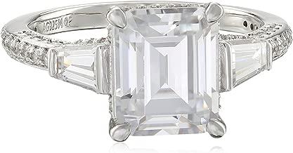 Myia Passiello Timeless Swarovski Zirconia Emerald Ring