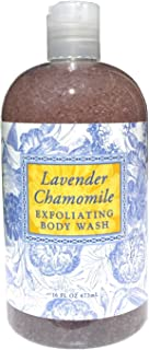 Greenwich Bay LAVENDER CHAMOMILE Exfoliating Body Wash for Men and Women-Gentle Body Scrub Parabens Free -Sulphates Free-Blended with Loofah, Apricot Seed-Moisturizing Shea Butter -16 oz.