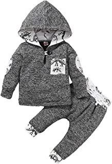 OhhGo Baby Toddler Boy Fashion Outfits Clothes Hooded Shirt + Pants