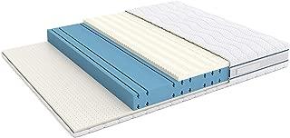 Marca Amazon -Alkove - Colchón de triple espuma viscoelástica y látex de doble cara con funda extraíble Sanitized®, 90 x 190 x 23 cm