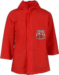 CARS McQueen Boy's Raincoat (Medium 4-5) Red