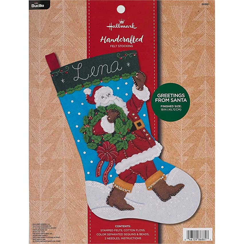 Bucilla 86881 Hallmark Felt Stocking Kit, 18