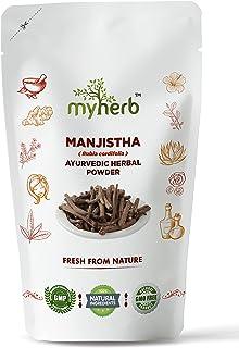 MYHERB 100% Pure Natural Organic Manjistha (Rubia Cordifolia) Powder    Ayurvedic Herbal Powder    For Hair,Face,Internal ...