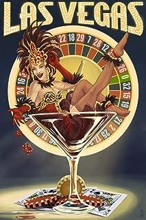 Las Vegas, Nevada - Casino Pinup Girl (9x12 Art Print, Wall Decor Travel Poster)