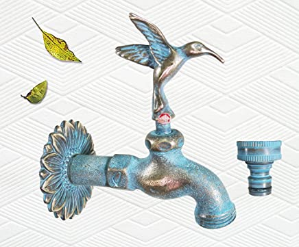 Solid Brass Cross Garden Outdoor Faucet With a Brass Connecter PA94