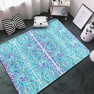 NiYoung Kitchen Rugs, Doormat Floor Mat Shaggy Rugs, Kids Children Play Mat Throw Bath Rugs, Tie Dye Spiral Throw Rugs Runner Yoga Mat, Indoor Outdoor Entrance Rug