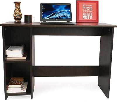 Ebee Engineered Wood Office Desk; Study Desk(Wenge Finish,Wenge)