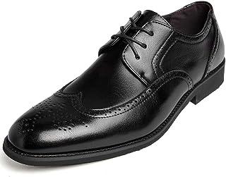 [Kitlilur] ビジネスシューズ メンズ ウォーキング 防水高級レザー 防滑 防臭 防菌 通気 24cm~29㎝ 革靴 紳士靴 黒 ブラック ブラウン 軽量 大きいサイズ ストレートチップ 外羽根