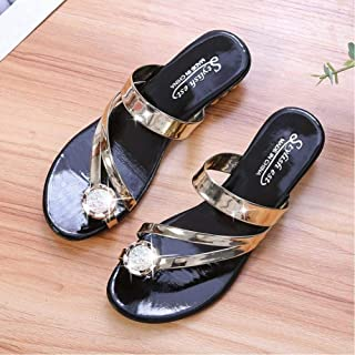 New Rhinestone Sandals Summer Flip Flops Comfortable And Casual