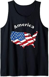 USA America Flag Design Tank Top