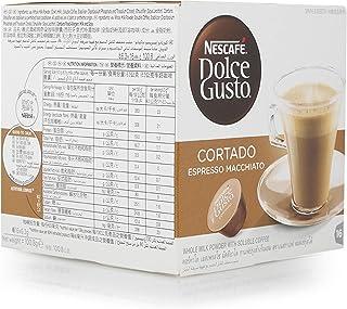 كبسولة قهوة كورتادو اسبريسو ماكياتو من نسكافيه دولتشي غوستو - 16 كبسولة