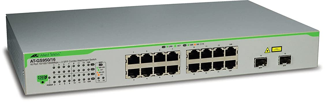 ボード偽物箱16 X 10/100/1000T WEBSMART SWITCH, WITH 2 SFP COMBO PORTS, POE+, AND U.S. POWER