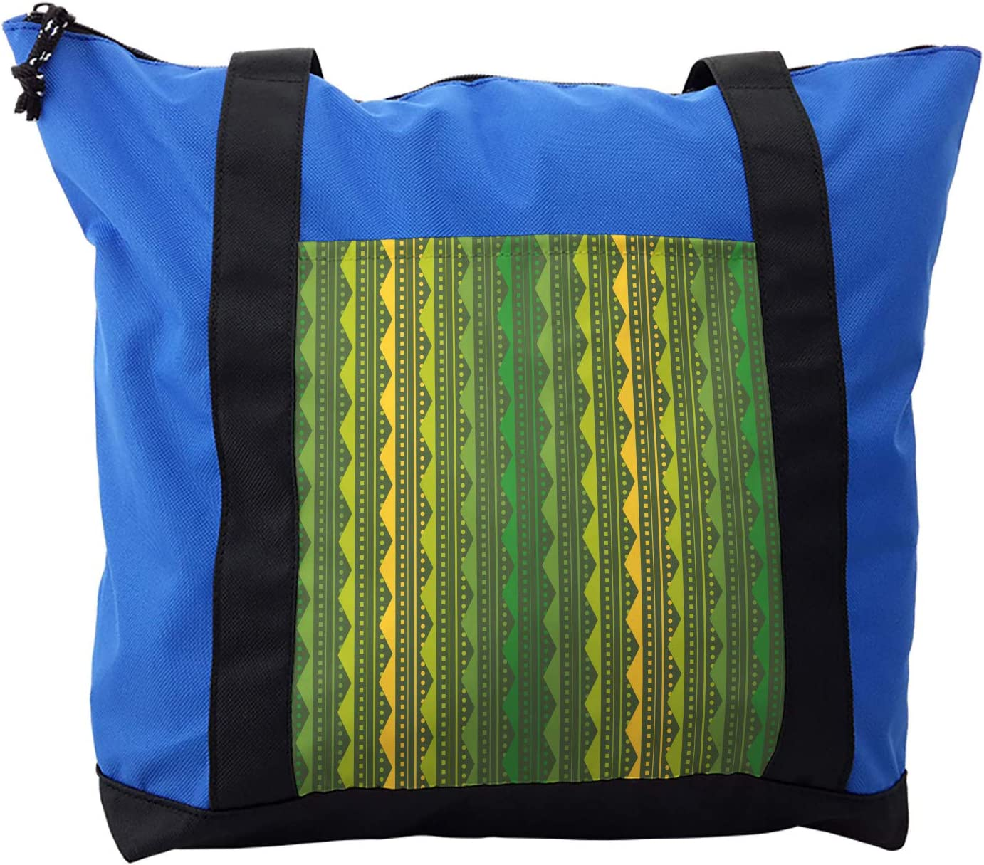 Lunarable Geometric Shoulder Bag, Stripes and Dotted Lines, Durable with Zipper