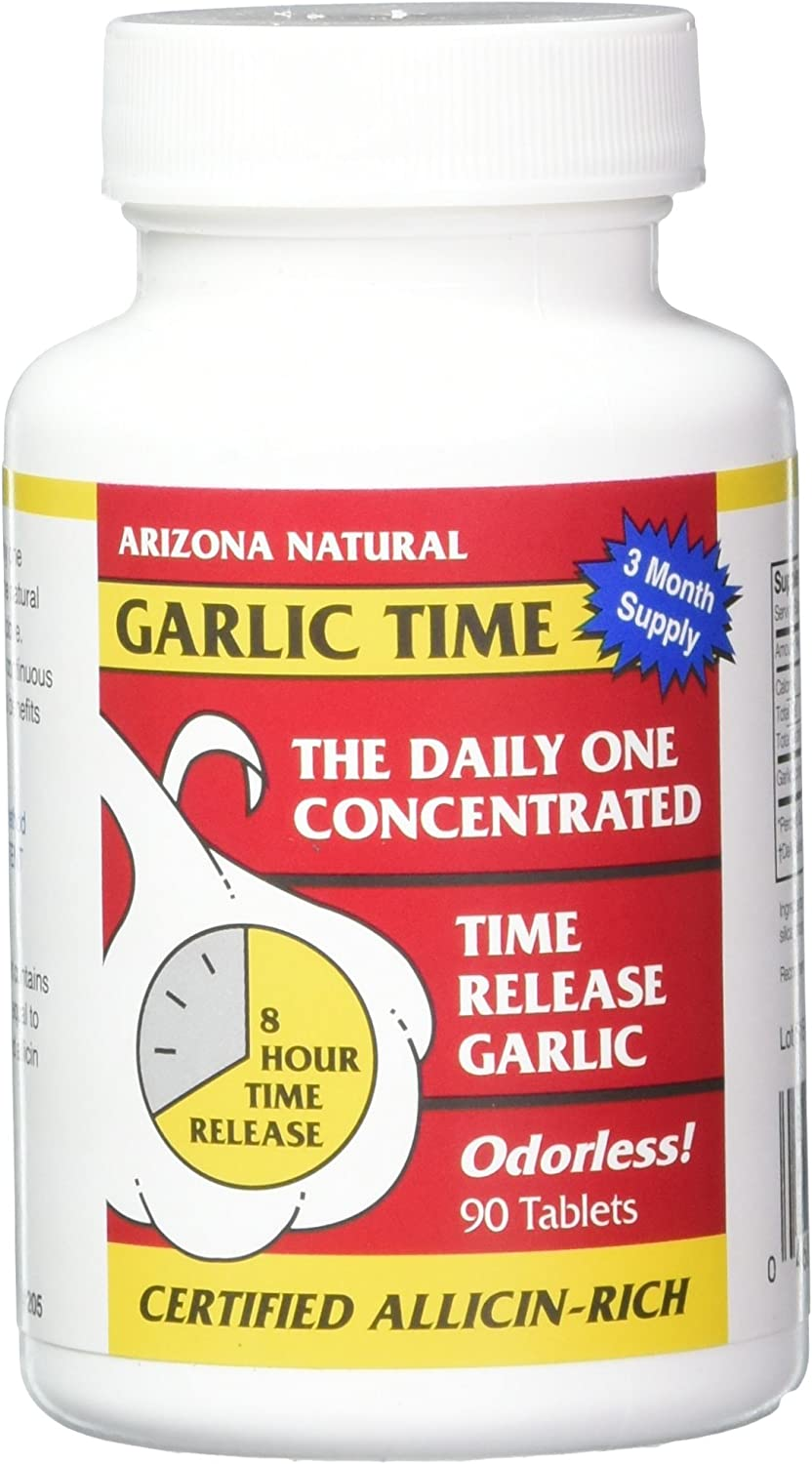 Arizona Natural Garlic TR San Francisco Mall 1800 Count Time-Released Tabs 90 mg Brand new