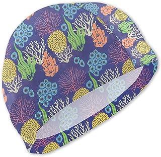 Gorros de baño Divertidos de Hierba de patrón para niños Gorro de baño para niños