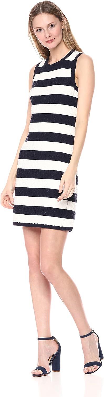 Eliza J Womens Textured Stripe Knit Casual Dress