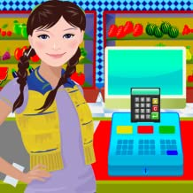 Supermarket Virtual Kids Shopping Cashier Game