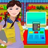Supermarket Virtual Kids Shopping Cashier Game