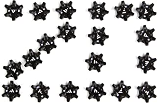 THiNTech Replacement Bulk Spike Cleats 20pcs, Black