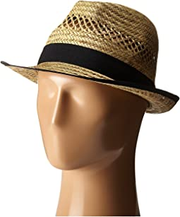 San Diego Hat Company SGF2013 Seagrass Fedora with Grossgrain Trim