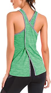 Le Vonfort Womens Racerback Yoga Shirt Activewear Workout Running Clothes Tank Top Shirts