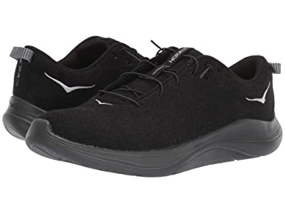Hoka One One Hupana Flow Wool (Black/Dark Shadow) Men