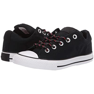 Converse Kids Chuck Taylor All Star Street Slip (Little Kid/Big Kid) (Black/Enamel Red/White) Boys Shoes