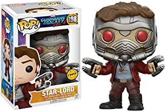 Star-Lord (Chase Edition): Guardians of The Galaxy 2 x Funko POP! Marvel Vinyl Figure & 1 POP! Compatible PET Plastic Graphical Protector Bundle [#198 / 12784 - B]