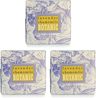 Greenwich Bay Cleansing Spa Soap, Shea Butter, and Cocoa Butter. Blended with Loofah and Apricot Seed, No Parabens, No Sulfates 6.35 Ounce (3 Pack) (Lavender Chamomile)