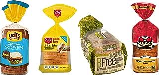 Gluten Free Bread Variety Pack, Contains: Udi's GF Delicious White Bread, Schar GF Artisan White Bread, Bfree GF White Sandwich Bread, and Canyon Bakehouse GF Mountain White Bread