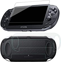 SNNC PlayStation Vita 1000 Screen Protector Anti-Scratch Tempered Glass Film Shield Games Console Joy Con Accessories Case...