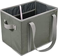meori Foldable Grocery Dust Olive 14.6 x 11 x 10.25 inches Collapsible Reusable Market Tote Bag Picnic Errands Shopping Ba...