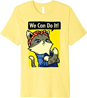 PREMIUM Cat Lady TShirt We Can Do It She Persisted Cat Lover