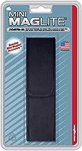 Mini Maglite AA belt holster pouch durable nylon - hook loop full flap closure