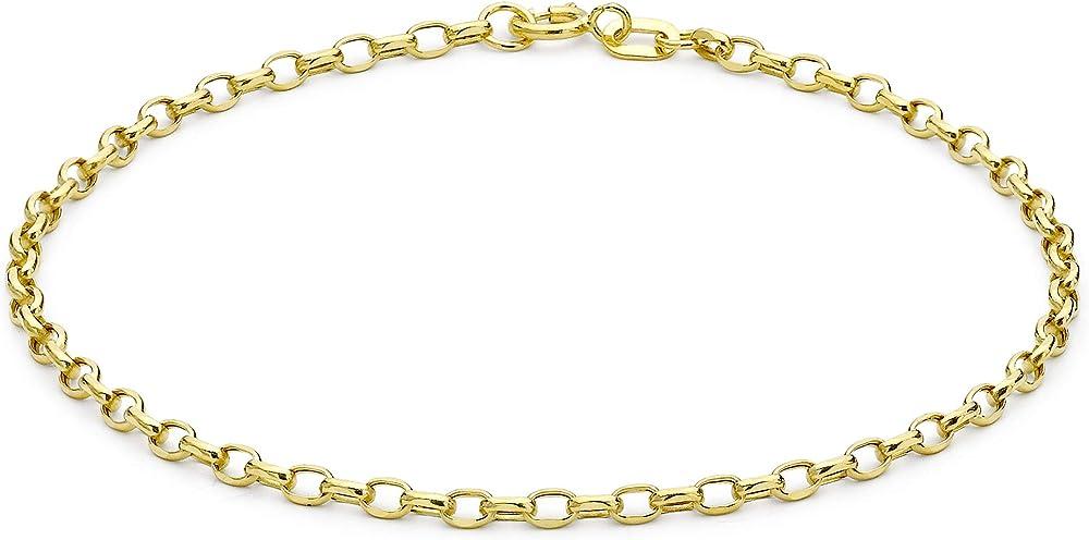 Carissima gold bracciale da donna, in oro giallo 9k (375) 1.24.5812