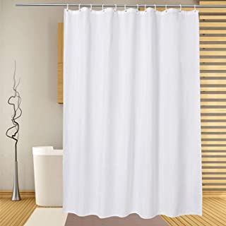 EurCross Extra Long Shower Curtain72x96inches Long Water Repellent Bathroom Shower Curtain Liner White