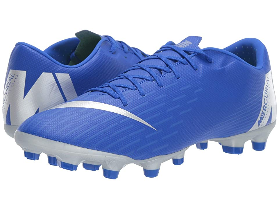 Nike Vapor 12 Academy MG (Racer Blue/Metallic Silver/Black/Volt) Men's Soccer Shoes