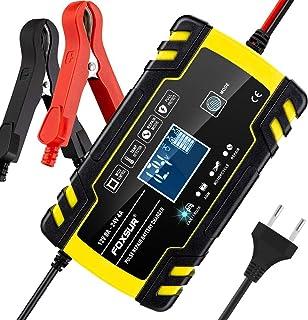 comprar comparacion yotame Cargador de Batería Coche Moto Rápido 12V /24V 8A Automático Inteligente Mantenimiento de Batería con Pantalla LCD ...