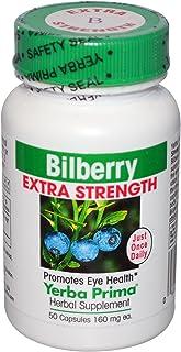 Yerba Prima Bilberry Extra Strength, 50 Capsules