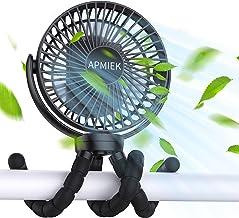APMIEK Mini Ventilatore Portatile USB, 5000mAh Batteria Ricaricabile 3 Velocità Silenziosa Rotazione di 360° Ventilatore d...