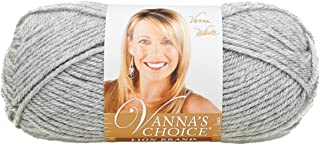 Lion Brand Yarn 860-405G Vanna's Choice Yarn, Silver Heather
