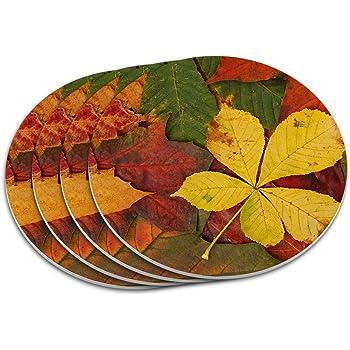 3D Rose Large Orange Pumpkin with Golden Grunge and Autumn Maple Leaves Ceramic Tile Multicolor