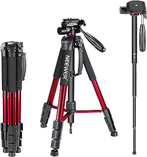 Neewer taşınabilir alüminyum alaşım tek ayaklı kamera sehpa 177santimetre mit 3-yollu döner mafsal Schwenkkopf, taşıma çantası Canon Nikon Sony DSLR kamera için video kamera, taşıma kapasitesi 4kilogram 23.5 x 4.5 x 4.5 inches 10090793