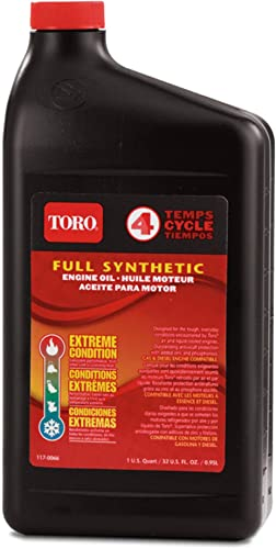 lowest TORO 2021 Full new arrival Synthetic SAE 10W-30 4-Cycle Engine Oil 32 Ounce Bottle 138-6053 outlet sale