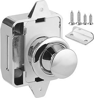 Argento 21 mm//0,8 pollici ABS Set di serratura a leva per porta del bagno Manopola per bagno Cromo lucido per camper Yacht RV Serratura per porta del bagno