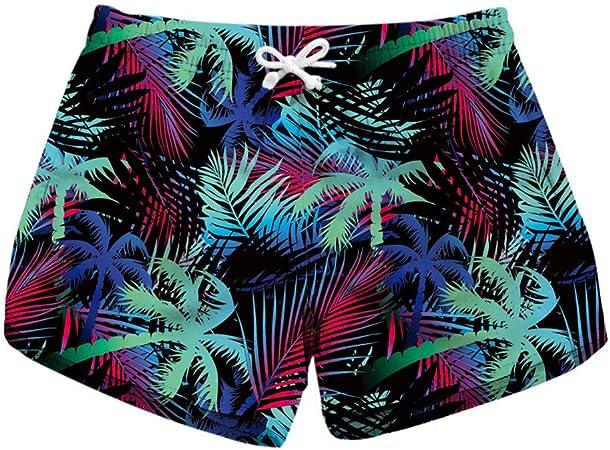 Cjf Pantalones Cortos De Playa 3d Para Mujeres De Verano Pantalones Cortos Con Estampado De Patrones Pantalones Cortos Casuales De Seccion Delgada Para Deportes Amazon Es Deportes Y Aire Libre