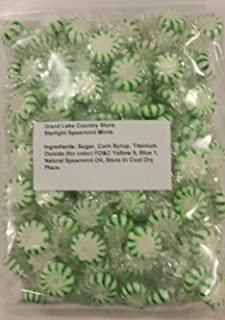 Starlight Spearmint Mints 2 Lbs Bulk Hard Candy Discs Approximately 175 Pieces