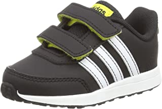 adidas Baby Boys' VS Switch 2 CMF Shoes, Core Black/Footwear White/Shock Yellow, 24-36 Months (24-36 Months)